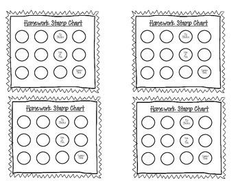 Homework Stamp Chart