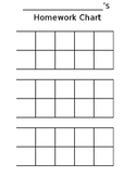 Homework Sticker Chart