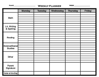 Homework Student Planner