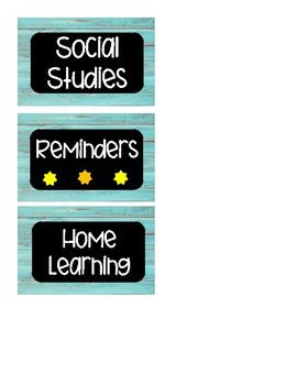 Homework Subject Labels