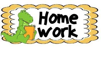 Homework Subject Labels- Alligator Theme