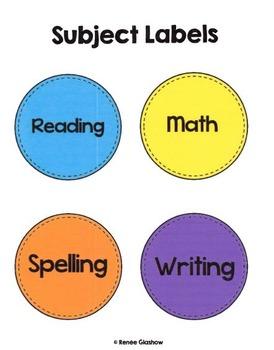 Homework Subject Labels:Circles