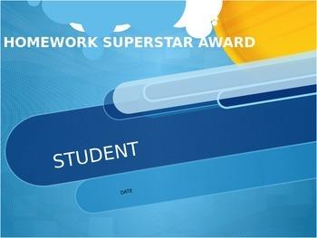 Homework Super Star Award
