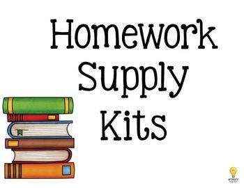 Homework Supply Kit