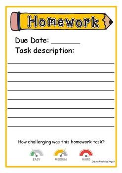 Homework Task Sheet