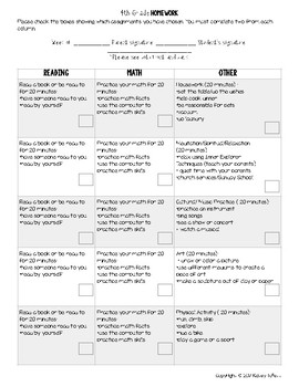 Homework Template By Fourthies