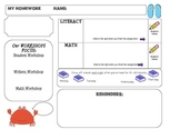 Homework Template: BEACH theme