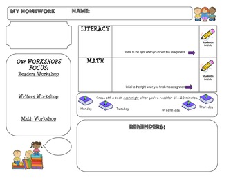 Homework Template: CUTIE KIDS theme