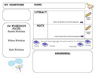 Homework Template: DRAGONFLY theme