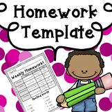 Homework Template: Editable