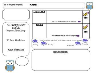 Homework Template: OWL theme