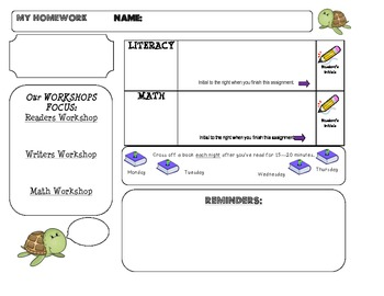 Homework Template: TURTLE theme