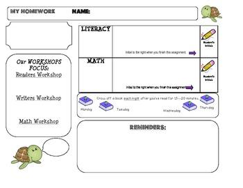 Homework Template: TURTLE theme
