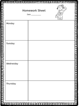 Homework Template That You Can Edit