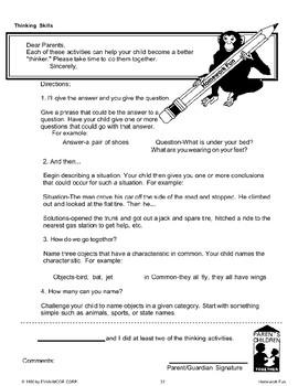 Homework: Thinking Skills