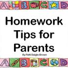 Homework Tips for Parents and Children - Great Resource!