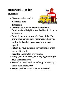 Homework Tips to Start the School Year