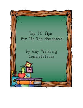 Homework:  Top 10 Tips for Tip-Top Students