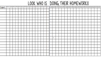 Homework Tracker (weekly chart)