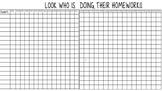 Homework Tracker (weekly chart)