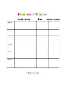 Homework Tracker