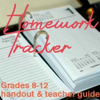 Homework Tracker (Grades 8-12)
