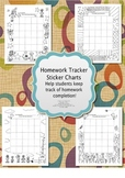 Homework Tracker Sticker Chart for French Class