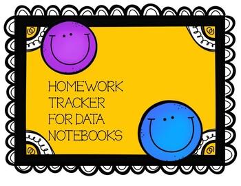 Homework Tracker for Data Folders 2017-18 school year