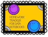 Homework Tracker for Data Folders 2018-19 school year