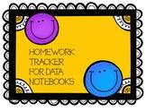Homework Tracker for Data Folders 2018-19 school year