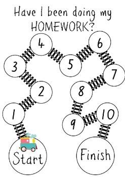 Termly Homework Tracking Reward Chart