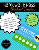 Homework Tracking Sticker Cards - FREEBIE