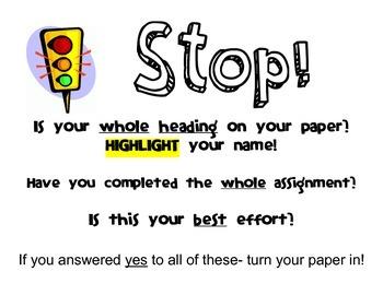 Homework Turn-In STOP Sign