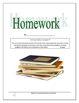 Homework Unit Study   Grades 2 & Early 3rd