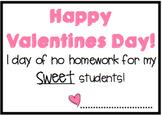 No Homework Valentine