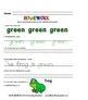 Homework Worksheets (Letters, Colors, Shapes and Numbers)