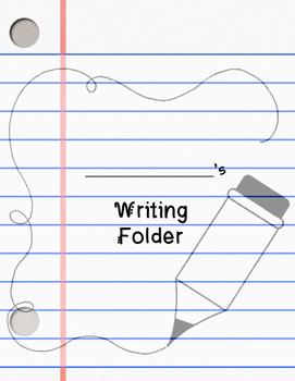 Homework & Writing Folder Covers