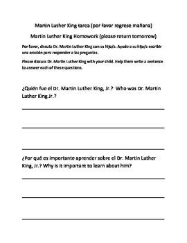 Homework about MLK Jr.