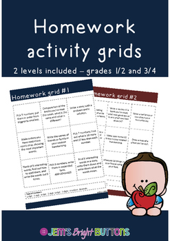 Homework activity grids