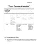 Homework alternative- HOME GAMES
