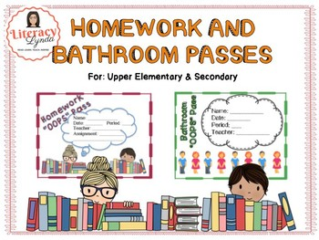 Homework and Bathroom OOPS Passes for BIG KIDS