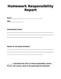 Homework and Behavior Responsibility Report