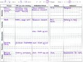 Homework and Behavior Weekly Check Sheet
