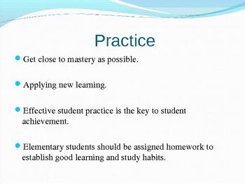 Homework and Practice