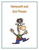 Homework and Quiz Passes