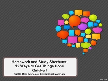 Homework and Study Shortcuts and Strategies for Students!