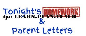 Homework and Take Home Folder Labels