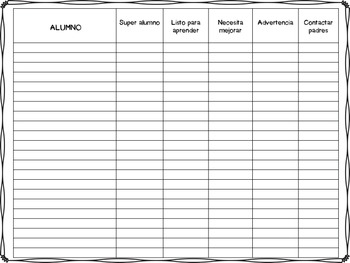 Homework and behavior trackers (Spanish version included)