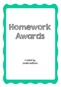 Homework awards