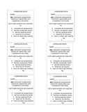 Homework book labels